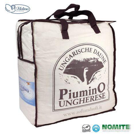 UNGHERESE 4 STAGIONI Piumino SINGOLO 100% Piumino d'Oca MOLINA 160x220