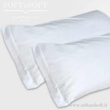 SOFFIO Pillowcase  pure Cotton White