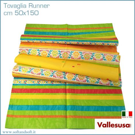 MAGIE tovaglia Runner Striscia tavola cm 50x150 Made in Italy arancio 497020