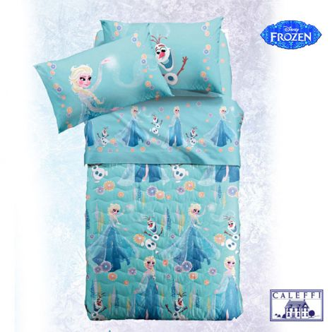 FROZEN MAGIA quilted bedcover for three quarter beds Disney Caleffi Microfiber