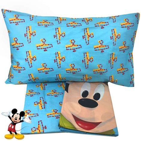 TOPOLINO ACADEMY Sheets for single beds Disney