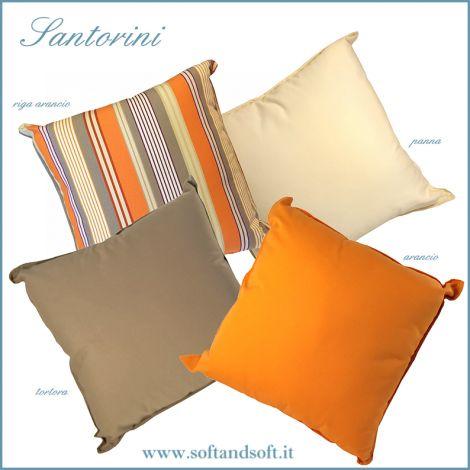SANTORINI cushion Teflon cm 50x50 Made in Italy