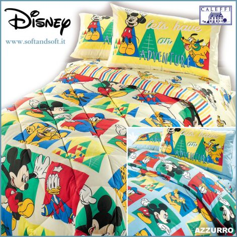 MICKEY BOYS Quilt for three-quarter bed Disney by CALEFFI
