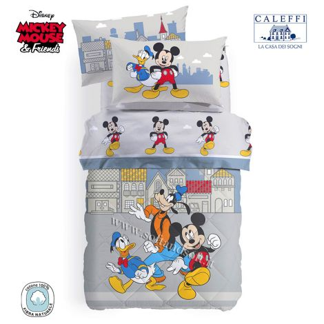 MICKEY TOWN Winter Quilt for Single Bed Disney by CALEFFI