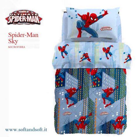 SPIDERMAN SKY Duvet for single beds Disney Caleffi Microfiber