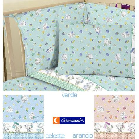 FUPI Quilt and Bumper for cots Biancaluna - Baby