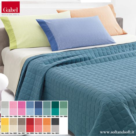 CHROMO Quilted bedcover for double bed - Gabel