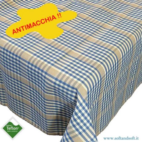 BORA Table cloth for 6 cm 140x180 check pattern no stain TEFLON