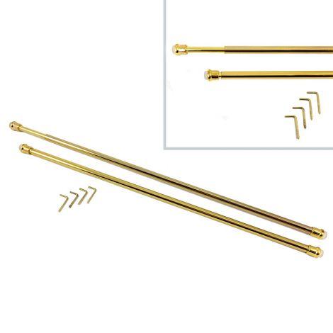 BACCHETTE GUIDE PER TENDE in metallo Oro CM 63 - 110 Allungabili universali