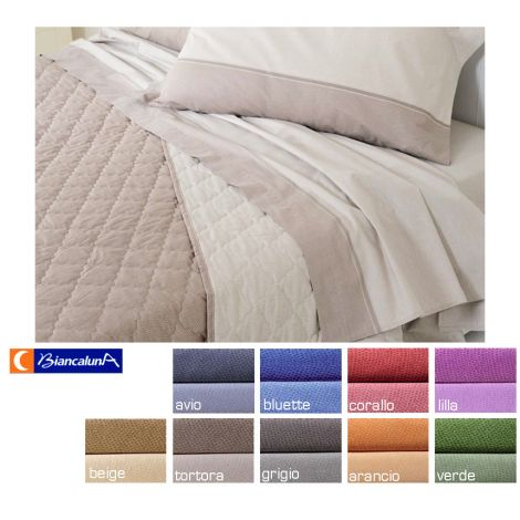 DERN Quilted Bedcover for Three-quarter bed Biancaluna