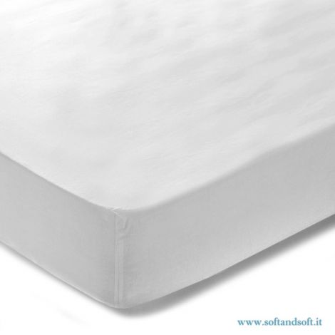 JERSEY fitted sheet for single bed 90x200 cm