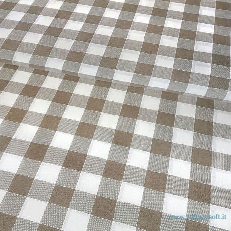 CAMPAGNOLA FABRIC FOR TABLE CLOTH Pure Cotton cm  140 Brown Patterns
