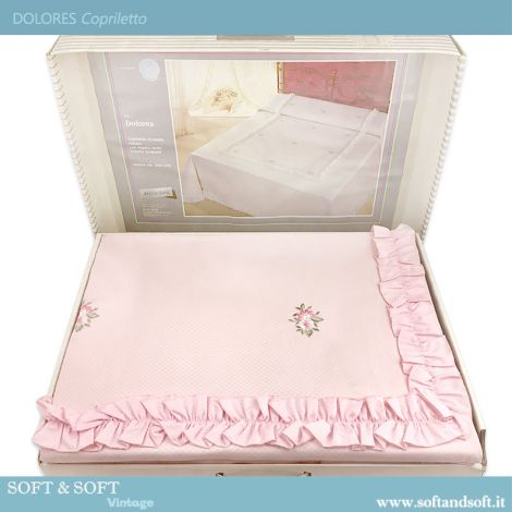 DOLORES Jacquarde Double Bed Silk Blends Bedcover Pink