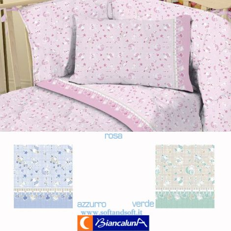 PANCO Quilt and Bumper for cots Biancaluna - Baby