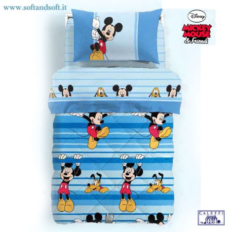 MICKEY GIOCO Duvet for single beds Disney Caleffi Microfiber