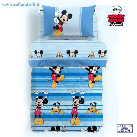 MICKEY GIOCO Trapunta letto singolo Disney Caleffi Microfibra