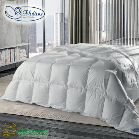 ISLANDA Duvet for  three-quarter Bed 100% Eiderdown cm 200x200 by MOLINA
