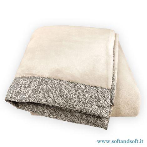 BLOT soft warm flannel plaid cm 210×240 made of pile