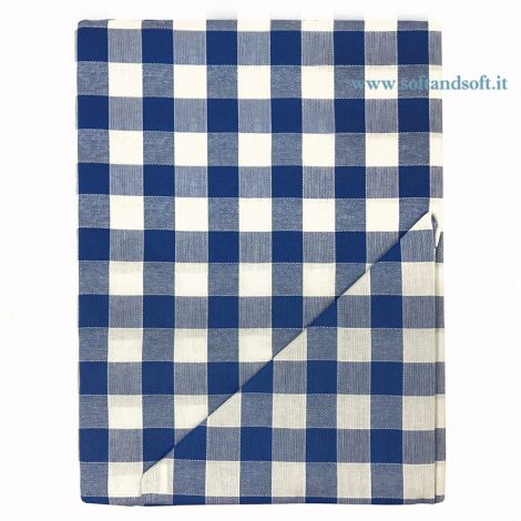 CAMPAGNOLA Tablecloth Blue and White with 8 napikins cm 140x220