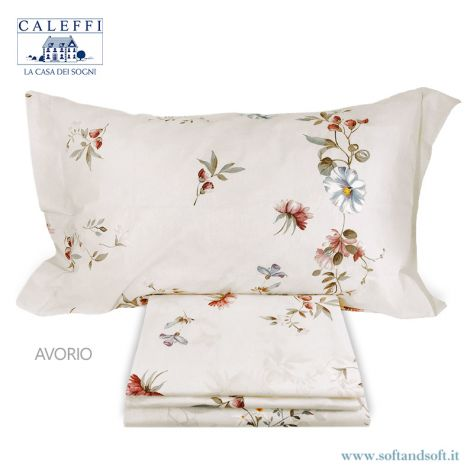 FLORAL Sheet set for single bed by Caleffi