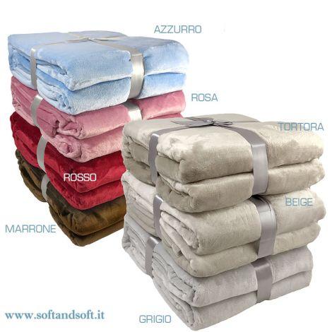 Online sale OSLO warm PILE Blanket/Plaid cm 130x160 | SoftandSoft.it ...