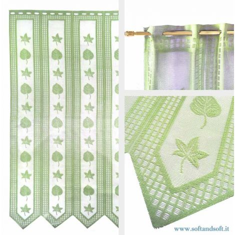 Edera GREEN Window blind Tent by meter ready to hang height 90 cm