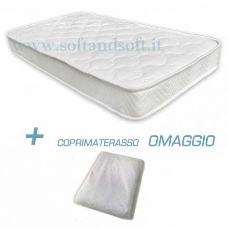 Materasso lettino sponde FOAM BABY ignifugo cm 60x120x12 + Coprimaterasso OMAGGIO