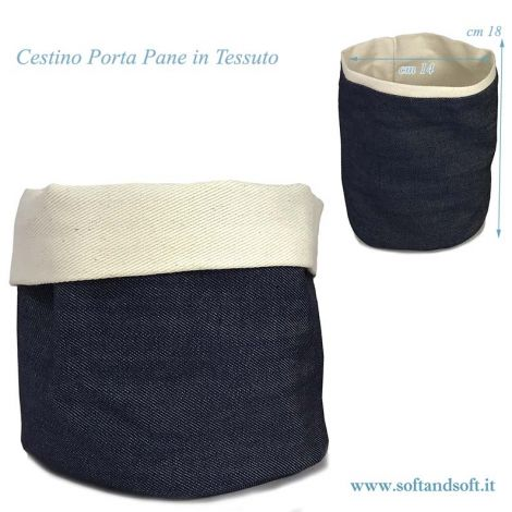 Bread basket pure cotton color brown cm 14x18 Blue Jeans