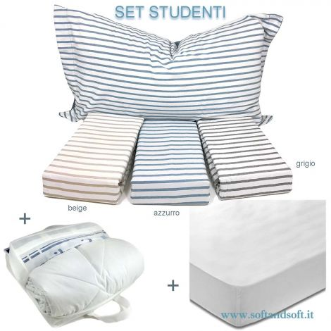STUDENT SET Duvet Cover SET for Single beds reversible + 4 Seasons Duvet