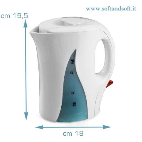 Bollitore elettrico scalda acqua per Te e Tisane - Bianco
