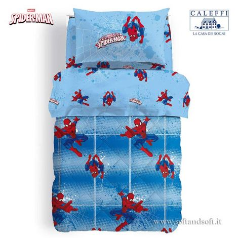 SPIDER-MAN POWER Quilt for Single Beds Marvel CALEFFI