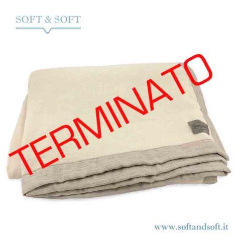NAGA 100% Kashmir Three-quarter Blanket cm 180x230 di SOMMA