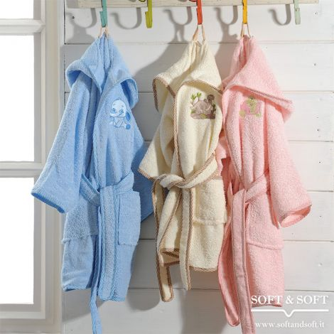 PICCOLI PULCINI Baby Bathrobe with Embroidery by BIANCALUNA