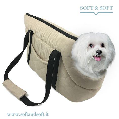DOGGY BAG Borsa per Cani Imbottita con Manici