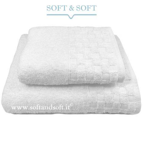 Check Telo Bagno in spugna cm 100x150 500 gr/m² Bianco