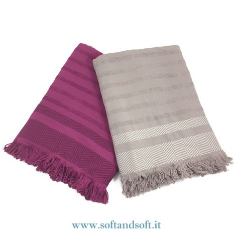 BIARRITZ Sea Towel With Fringes