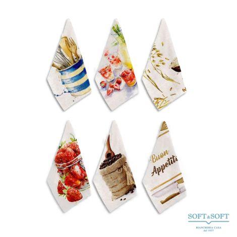 CANDY Kitchen Towel Set 6 pcs cm 50x70