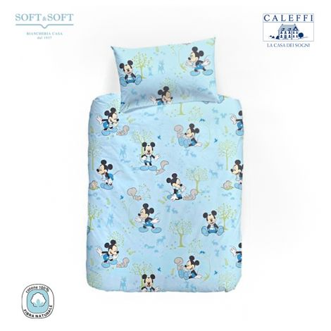 MICKEY BOSCHETTO Duvet cover set for cots by Disney CALEFFI
