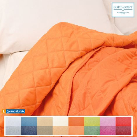 INDICOLOR Quilted Bedcover for double beds Biancaluna