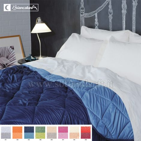 INDICOLOR Microfibre Quilt for Three-quarter Bed by BIANCALUNA