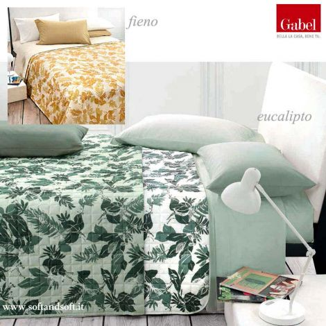 INSPIRED quilted bedcover for double bed Double Face GABEL-Fieno