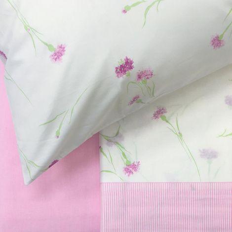 INTRIGUE Completo Lenzuola Misura MATRIMONIALE Puro Cotone GABEL-Rosa