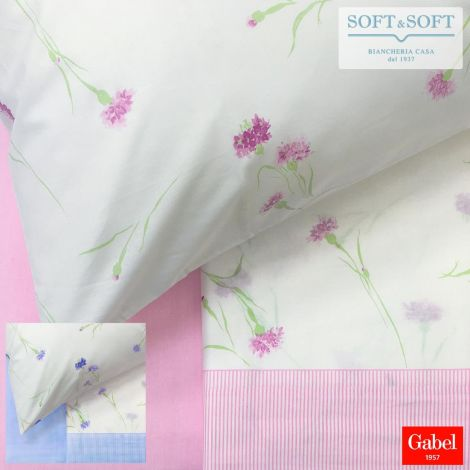 INTRIGUE Sheet set for THREE QUARTER bed in pure cotton by GABEL