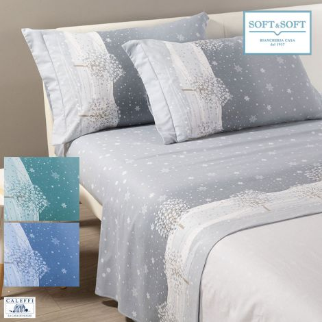INVERNO Flanel sheet set for double bed CALEFFI