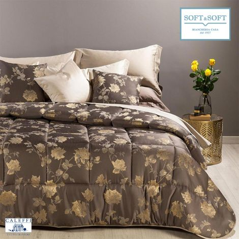 ISABELLA Satin Jacquard Quilt for Double Bed by CALEFFI
