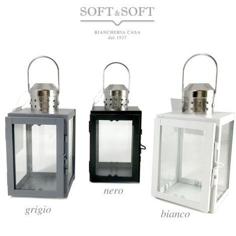 Lanterna Milan in metallo e vetro per piccole candele