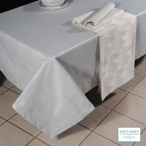 LAPPONIA jacquard tablecloth lamé 170×270 for 12 people