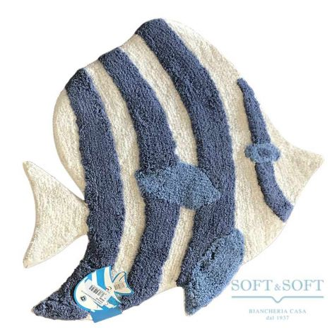 LENNY Bath Mat pure Cotton Fish Shape
