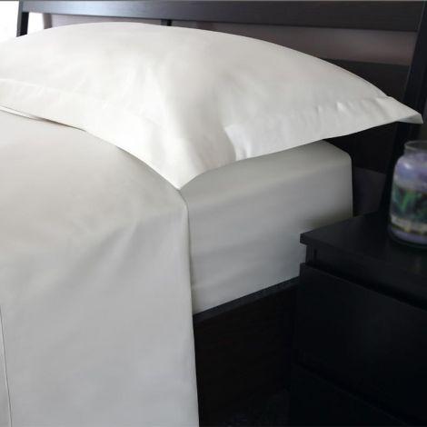 BASIC SOFT completo lenzuola per letto piazza e mezza bianco tinta unita