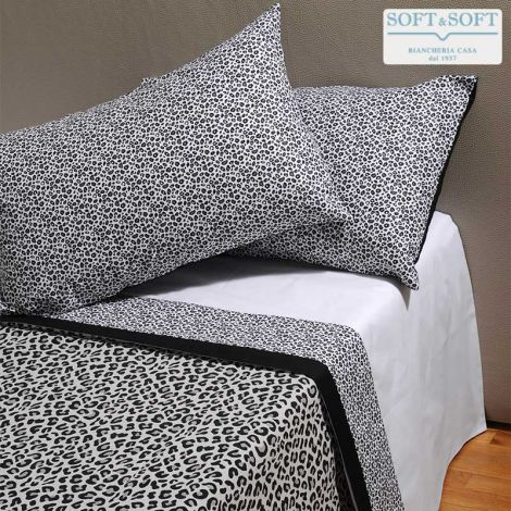 LEOPARDO Sheet Set DOUBLE Bed Size Printed Pure Cotton